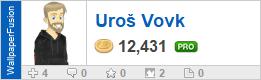 Uroš Vovk's profile on WallpaperFusion.com