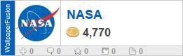 NASA's profile on WallpaperFusion.com