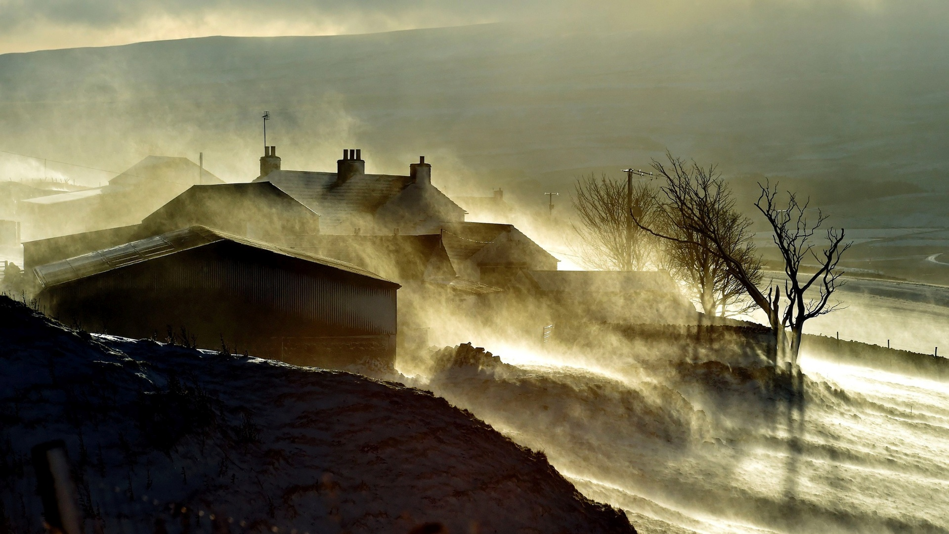 Snow drifts over a farm in Teesdale, County Durham.jpg