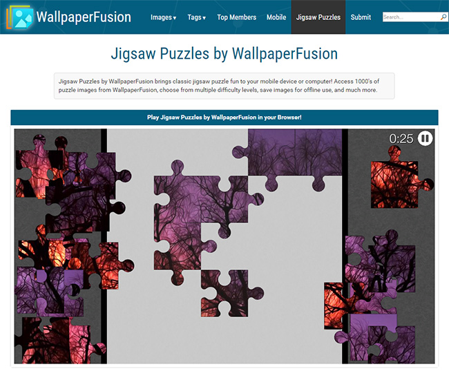 Jigsaw Puzzles by WallpaperFusion